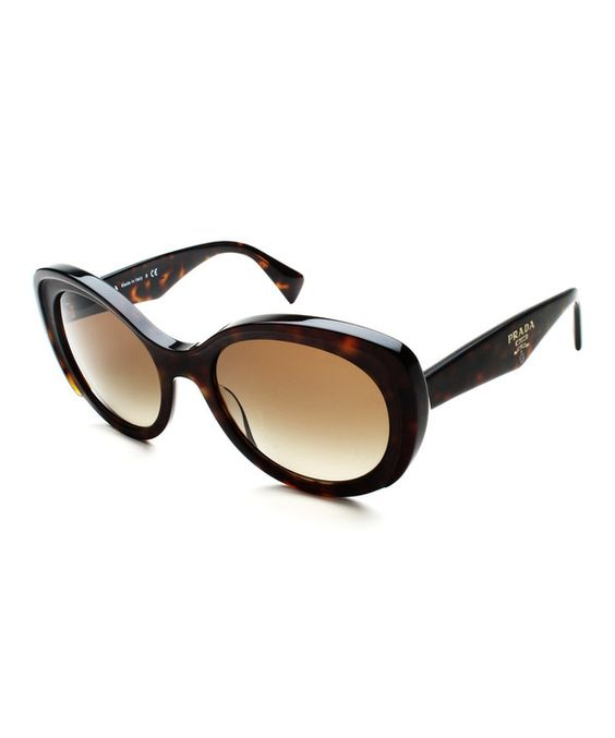 Look at this Prada Matte Havana & Brown Butterfly Cat-Eye Sunglasses on #zulily today!