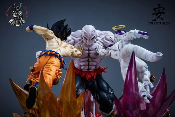 Artstation Jiren Vs Goku And Freeza 1 6 Statue Maycon Andrade Dragon Ball Artwork Art Toys Design Anime Figures