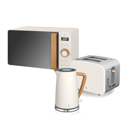 1.8L Cordless Jug Electric Kettle /& Wide Slice Bread Toaster Set SQ Pro Pink