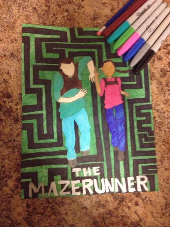 I drew this drawing for my sister because she loves the maze runner. It is of her and Thomas running through the maze.