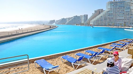 The San Alfonso del Mar has the world's largest outdoor swimming pool.