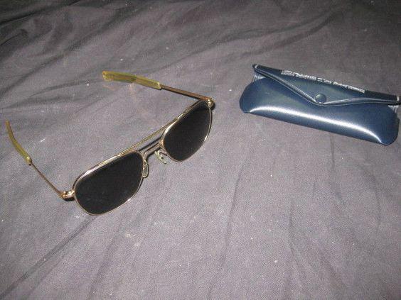 Gafas De Sol Vintage De Piloto Aviador Pilot Aviator - PG58 PG 58 Con Funda