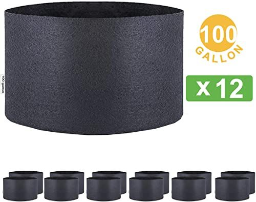 Buy Oppolite 1 2 3 5 7 10 15 20 25 30 45 Gallon Round Fabric Fabric Aeration Pots Container Nursery Garden Planting Grow 100 Gallon 12 Pack Online Topoffe In 2020 Aerator Gallon Solar Kit