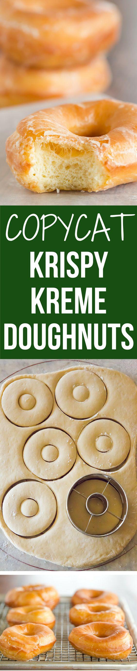 Copycat Krispy Kreme Doughnuts - A copycat recipe for Krispy Kreme doughnuts – they're light, airy and covered in a barely-there glaze.