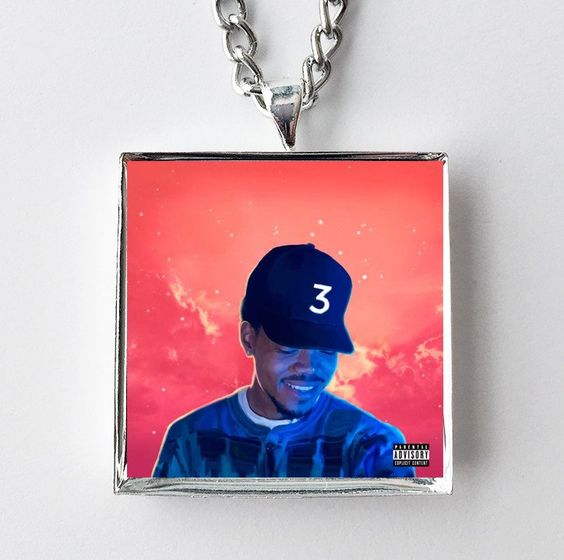 Chance the Rapper - Coloring Book - Album Cover Art Pendant Necklace
