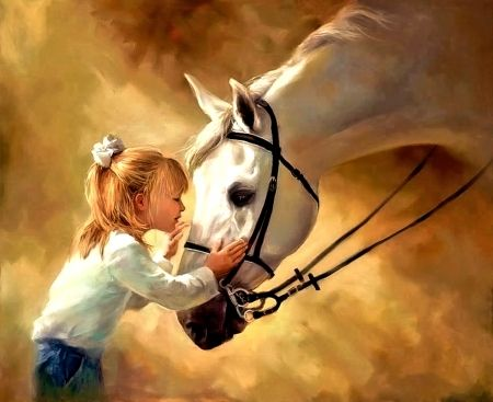 Little Girl and Horse - Other Wallpaper ID 2069070 - Desktop Nexus Abstract