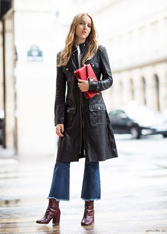This Denim-and-Boots Combo Is Spot-On for Fall via @WhoWhatWear