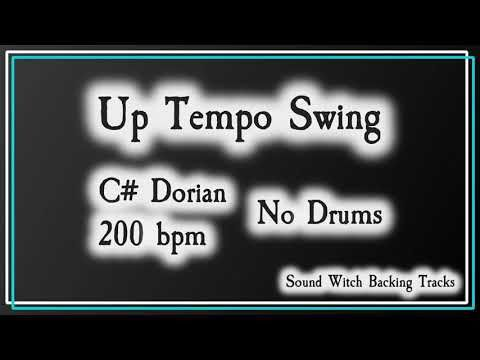 Up Tempo Swing Backing Track In C Dorian No Drums 200 Bpm Youtube Backing Tracks Track Lead Sheet