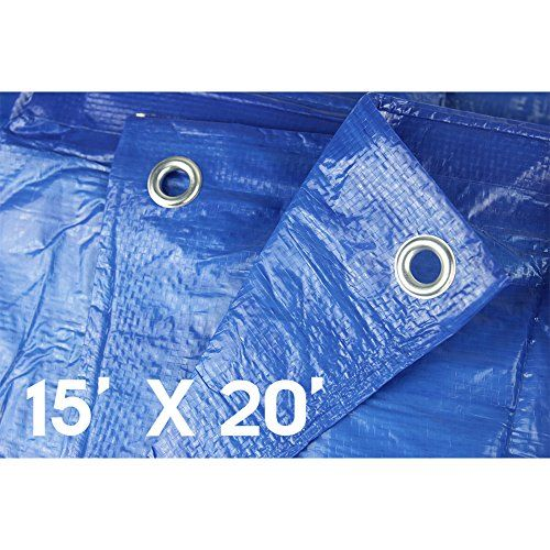 Waterproof Tarps Hanjet 15 X 20 5 Mil Thick Rain Covers Drop Cloths Camping Tents Blue Perfect For Backpacking Camping Shelter Shade Ground Cover Waterproof Tarp Tent Camping Tarps