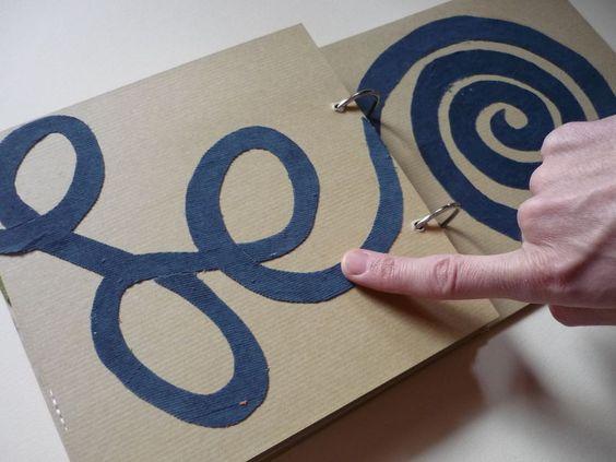 "Make your own Tactile book. Visit pinterest.com/wonderbabyorg for more tactile & Sensory Fun ideas!"""