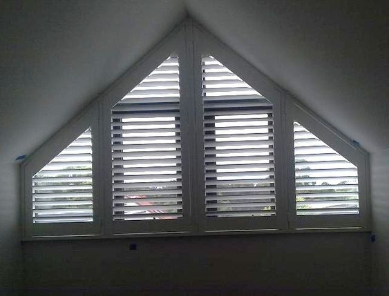This Triangular Window Uses A Regular Blind Cut Into A
