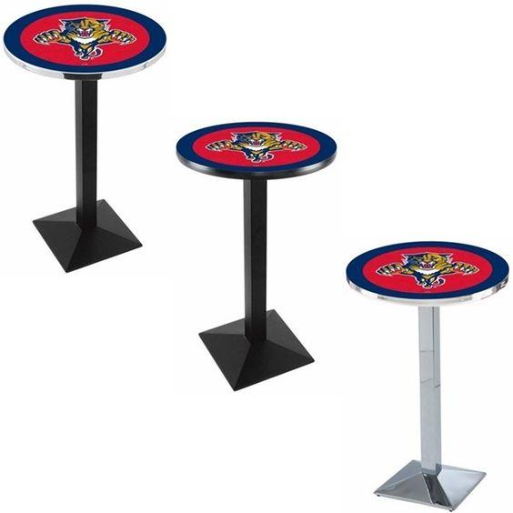 Florida Panthers Square-Base Bar Table