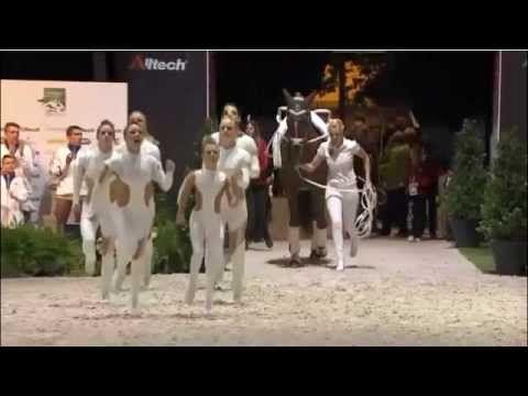 WEG 2014 / German Vaulting Squad / Voltigieren Finalkür Team Neuss - YouTube
