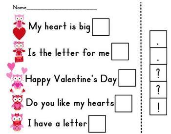 Printables Kindergarten Punctuation Worksheets valentines kindergarten and worksheets on pinterest from young lively free use this cut paste worksheet to practice using