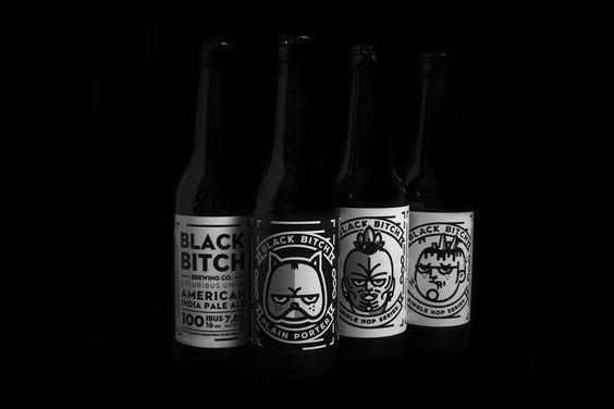 SpRediseño para las etiquetas de cerveza Black Bitch y su marca. Es una pequeña cervecería ubicada en Bilbao. Rediseño de 4 etiquetas en blanco y negro. Cada cerveza tiene un lupulo de distinta procedencia, USA, Nueva Zelanda, Uk2 Single Hops Series, Po…