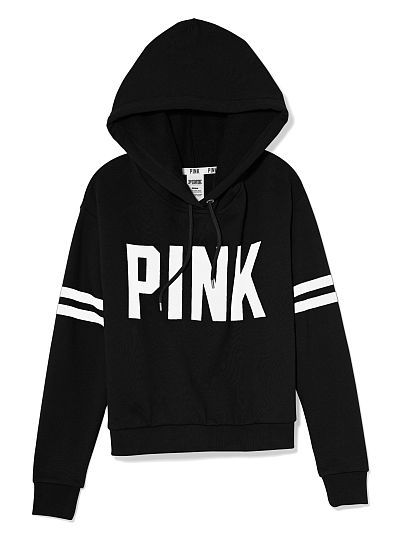 PINK Pullover Hoodie in Black $44.95 | hoodies | Pinterest | Cheap ...