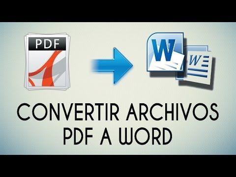 Como Convertir Pdf A Word Online Paso A Paso Tutorial Chvere Youtube Clase De Informática Computacion Informatica Y Computacion