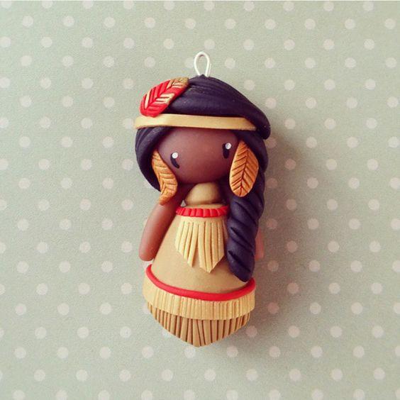 Collier petite indienne - Tahoma : Collier par madame-manon