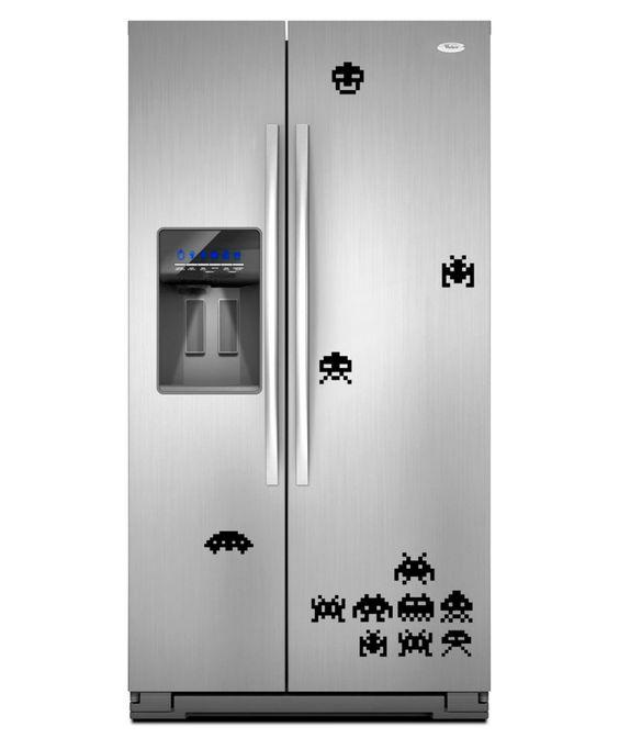 Space invaders vinilo adhesivo decoraci n de cocina - Vinilos decorativos para cocina ...