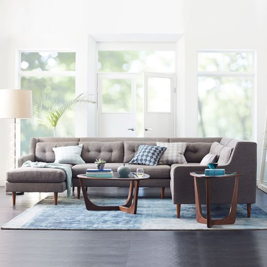 Crosby Set 8 Left Arm Chaise Armless Loveseat Corner
