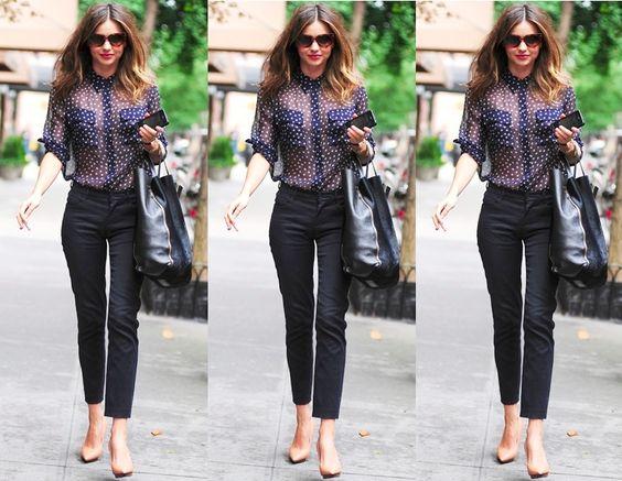 Miranda Kerr Wears Equipment, Lanvin and Celine