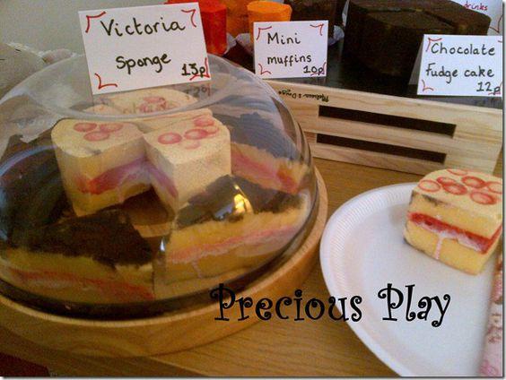 Car sponges cut into role play cakes! Great idea!