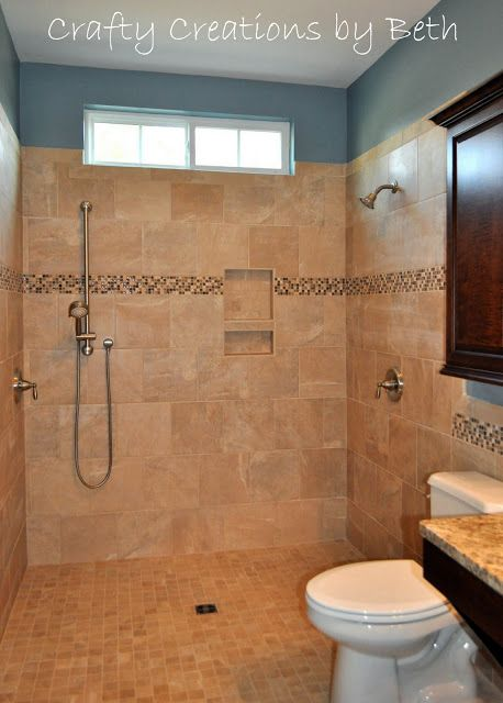 wheelchair accessible bathroom remodel beyond the screen door
