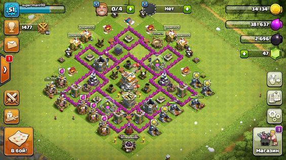 clash of clans базы 8 тх