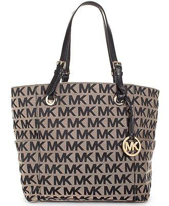 MICHAEL Michael Kors Handbag, Block Monogram Signature Tote - All Handbags - Handbags \u0026amp; Accessories - Macy\u0026#39;s , www.CheapMichaelKorsHandbags michael kors on ...