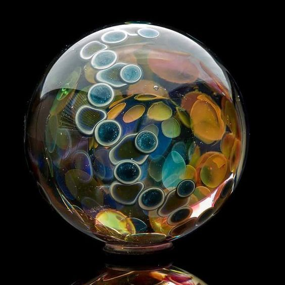 Collaboration with @freddyfaerron fumed oddball. by oddballglass