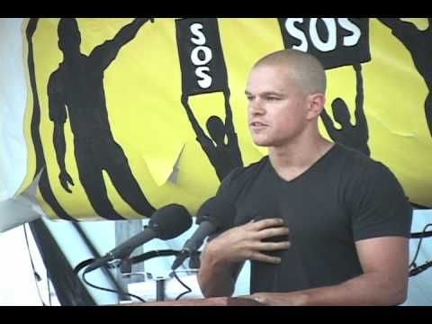 "Matt Damon's speech at the 2011 Save our Schools March. ""My teachers were EMPOWERED to teach me. Their time wasn't taken up with a bunch of test prep — this silly drill and kill nonsense that any serious person knows doesn't promote real learning. No, my teachers were free to approach me and every other kid in that classroom like an individual puzzle."""