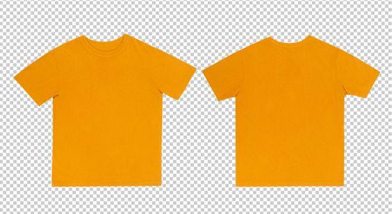 Download Yellow Tshirts Mockup Front And Back T Shirt Design Template Mockup T Shirt