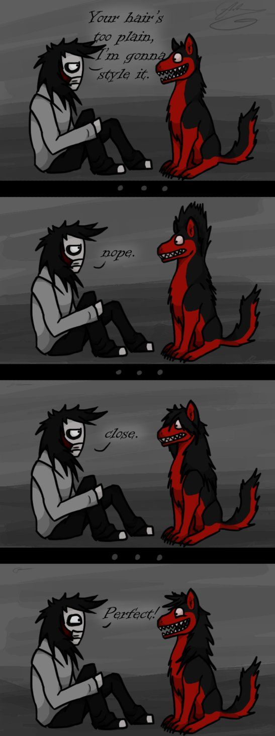 When Jeff met Smile Dog by GingaAkam