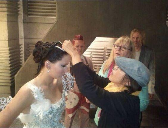 Catching fire wedding dress scene