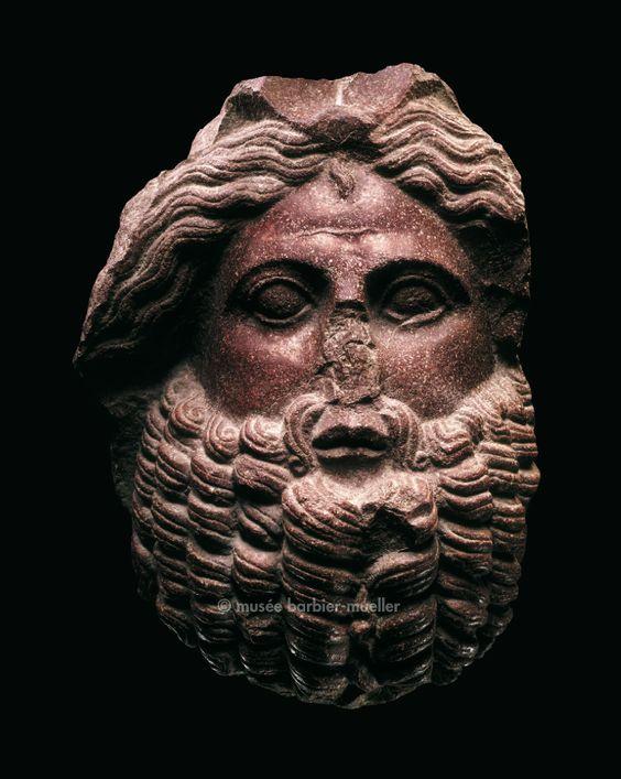 Male head, Roman civilization, Italy, Sicily, Villa Altichiero, near Palermo