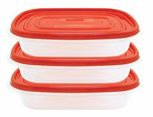 Frigidaire 3-Pack Plastic Rectangle Storage Container
