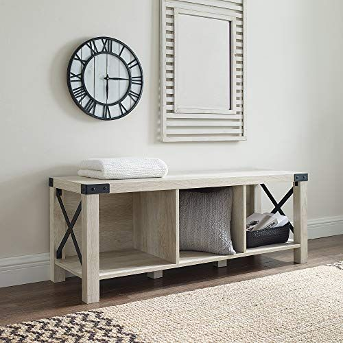 Amazon Com We Furniture Az48mxebwo Entry Bench White Oak