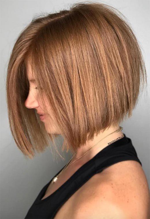 61 Cute Short Bob Haircuts Short Bob Hairstyles For 2021 Thick Hair Styles Short Bob Haircuts Bob Hairstyles