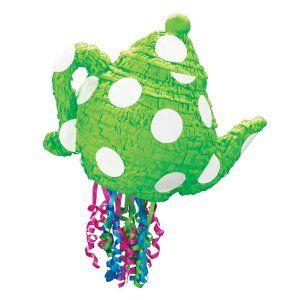 Green Teapot Pull-String Pinata