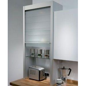 Glass Tambour Door Complete Unit 600mm Wide 1283mm High