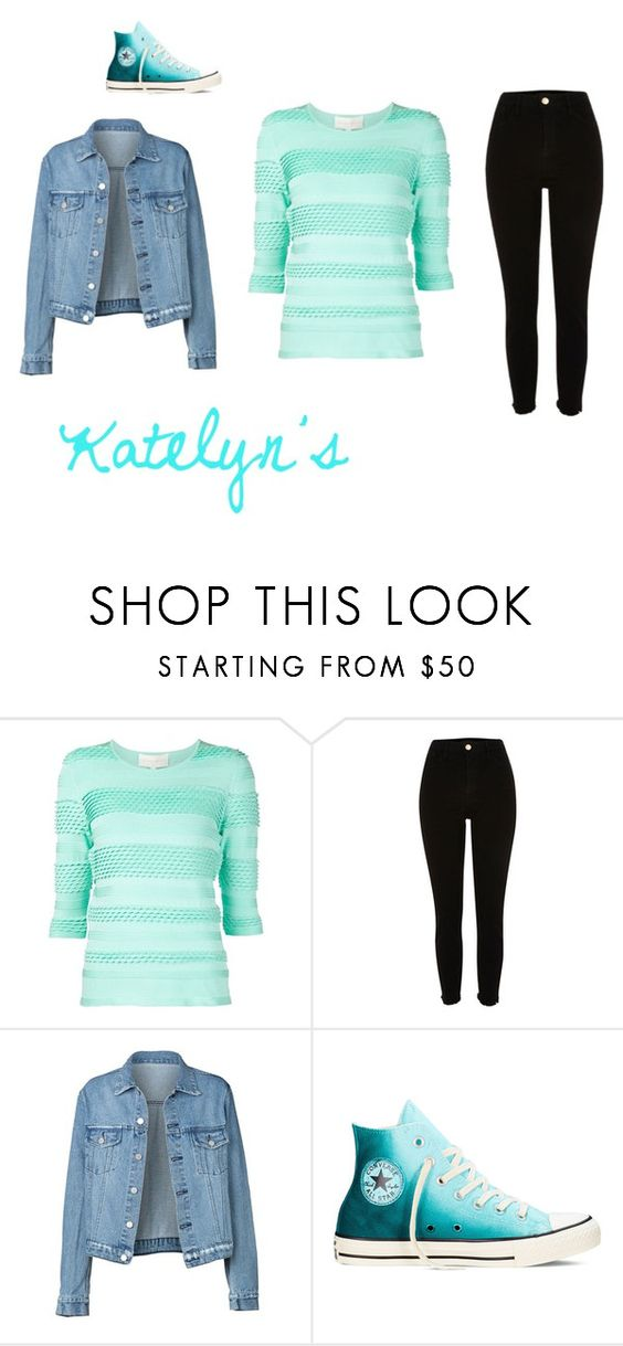 """Katelyn's Clothes"" by millenrocks on Polyvore featuring Christian V Siriano, River Island and Converse"