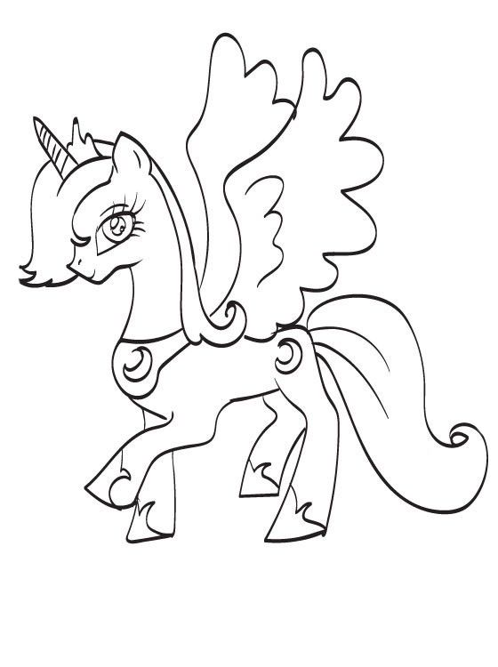 Princess Luna Coloring Pages Princess Luna My Little Pony