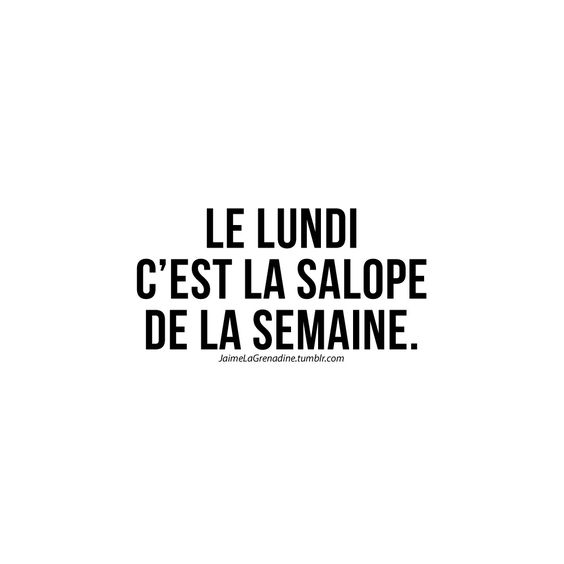 Le lundi c'est la salope de la semaine. - #JaimeLaGrenadine #monday
