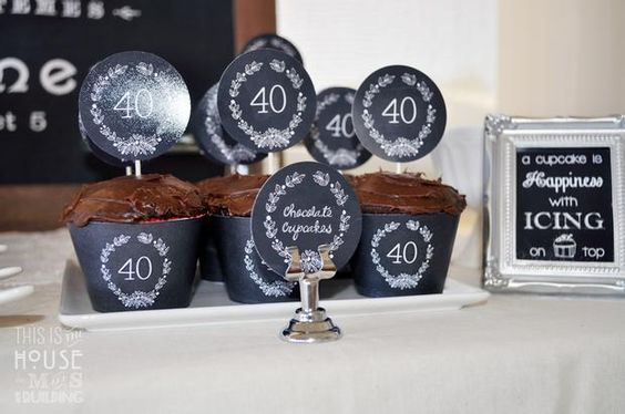 Hostess with the Mostess® - Vintage Chalkboard 40th Birthday Party