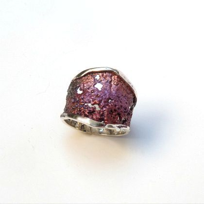Ring 'Intenzza' in Siena pink by ARIOR by ArteArtesania on Etsy