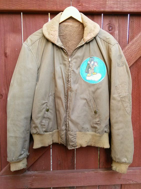 40's Vintage WWII USAAF B-15 A2 B3 Air Force Squadron Flight Bomber Jacket