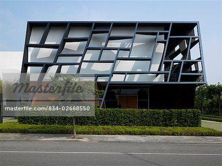 Commercial office buildings best elevation modern google for Unique front elevation