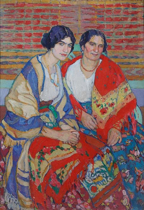 Elena Andreevna Kiseleva. Mother and daughter