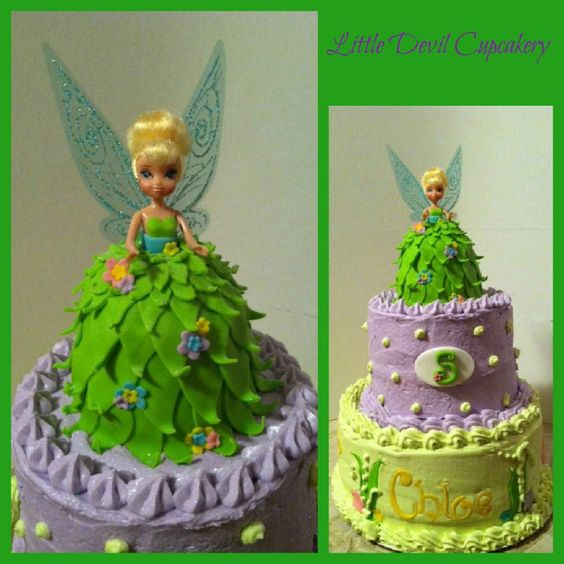 Tinker Bell Cake Le Veon Bell And Cakes On Pinterest