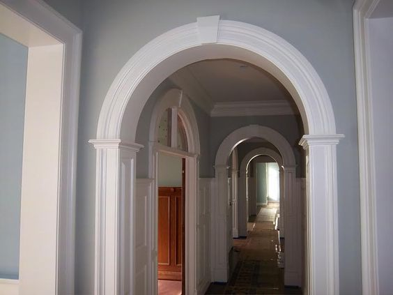 Curved Molding Arched Molding Curved Crown Molding Radiusmillwork Com Curved Molding Trim Moldings And Trim Archway Molding Stair Paneling